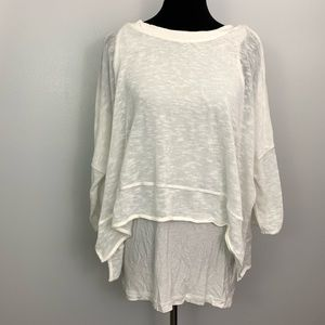 Chelsea & Theodore | UO Off White Overlay Top XL